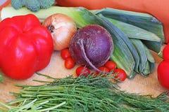 Овощи на подносе Стоковая Фотография
