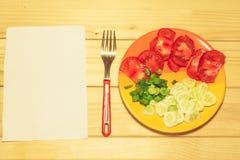 Овощи на плите Стоковая Фотография