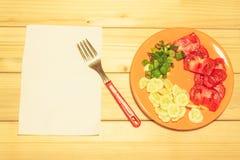 Овощи на плите Стоковое Изображение RF
