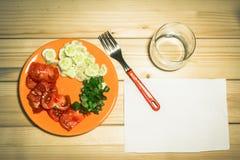 Овощи на плите Стоковые Фотографии RF