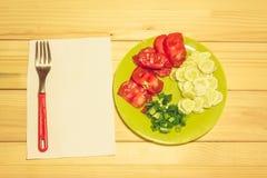 Овощи на плите Стоковое Изображение