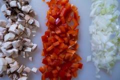 Овощи на разделочной доске Стоковая Фотография RF
