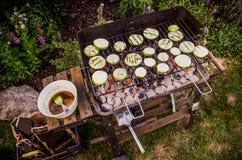 Овощи на решетке Стоковое Изображение