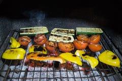 Овощи на решетке Стоковая Фотография RF