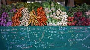Овощи на рынке Talon Джина, Монреале Стоковое Изображение RF