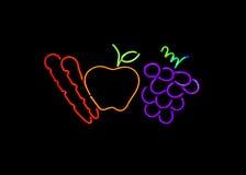 овощи неонового знака плодоовощ Стоковое Изображение RF