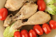 овощи ног обеда цыпленка Стоковые Фото