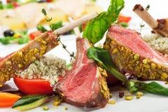 овощи овечки chops стоковое изображение