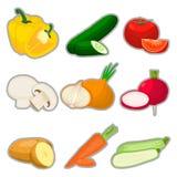 Овощи логотипа Стоковое Изображение RF