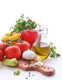 овощи оливки масла трав Стоковые Фотографии RF