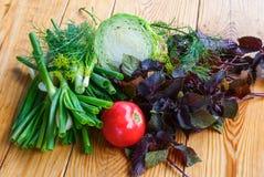 Овощи осени на деревянном столе Стоковое фото RF