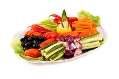 овощи плато плиты Стоковое Изображение RF