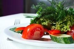 овощи плиты зеленых цветов Стоковая Фотография