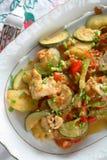 овощи плиты рыб стоковое изображение rf