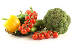 овощи плиты Стоковые Изображения