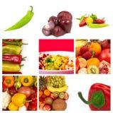 овощи плодоовощей коллажа стоковые фото