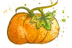 Овощи покрашенные акварелью вычерченная рука иллюстрация вектора