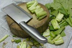 Овощи подготавливают варить Стоковое Изображение RF