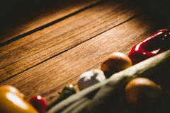 Овощи положенные вне на таблицу Стоковая Фотография