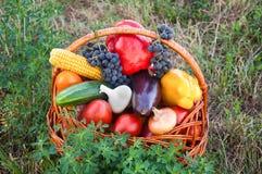 Овощи предпосылки натуральных продуктов Стоковое Фото