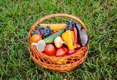 Овощи предпосылки натуральных продуктов Стоковые Изображения