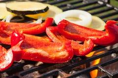 Овощи приготовления на гриле Стоковое Изображение RF