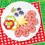 овощи продуктов моря Стоковое фото RF