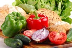 овощи продуктов технологического комплекта хлебопекарни свежие Стоковые Фото