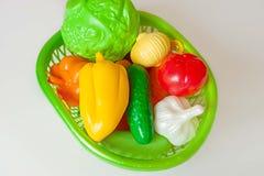 овощи пластмассы игры плодоовощей фальшивки varied Игрушка образования еды детей стоковые изображения