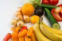 овощи плодоовощей предпосылки белые Стоковая Фотография RF