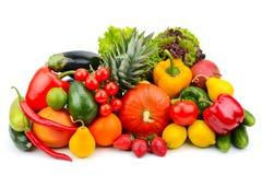 овощи плодоовощей предпосылки белые стоковые фото