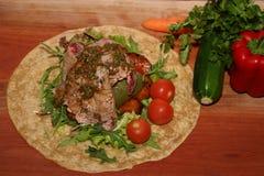 овощи развернутые tortiya Стоковые Изображения RF
