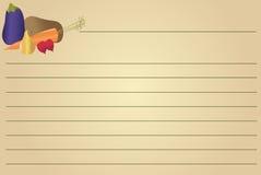 овощи рецепта карточки бесплатная иллюстрация