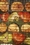 овощи решетки стоковая фотография rf