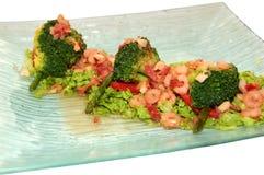 овощи салата креветки стоковое изображение