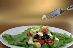 овощи салата feta сыра свежие Стоковые Фотографии RF