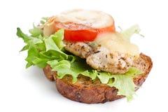 овощи сандвича цыпленка сыра Стоковое Изображение