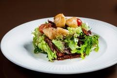 Овощи салата Scallop vith стоковые фотографии rf