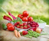 овощи свежих фруктов органические Стоковая Фотография RF