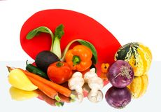 овощи сердца франтовские Стоковое Изображение