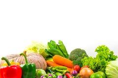 Овощи собрания изолировали белую предпосылку Стоковые Изображения RF