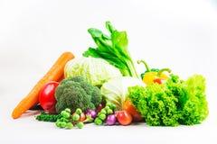 Овощи собрания изолировали белую предпосылку Стоковое Фото