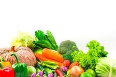 Овощи собрания изолировали белую предпосылку Стоковое Изображение