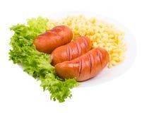 Овощи, сосиски, зеленые цвета Стоковые Фотографии RF