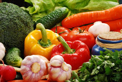 овощи состава сырцовые Стоковая Фотография