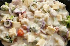овощи соуса bechamel Стоковое фото RF