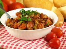 овощи соуса frankfurters Стоковое Изображение RF