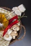 овощи солнцецвета масла бутылки Стоковые Фотографии RF