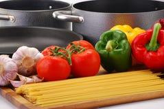 овощи спагетти состава сырцовые Стоковое Изображение RF