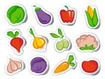 овощи стикеров иллюстрация вектора
